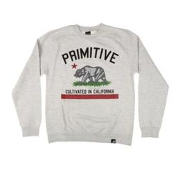 Primitive Apparel Cultivated Crewneck - Athletic Heather Mens Jackets and Sweaters at Primitive Shoes & Apparel
