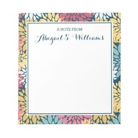 Colorful Spring Blossoms Pattern Memo Note Pad