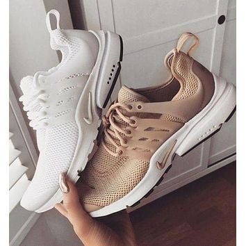 Nike Air Presto Woman Men Fashion Casual Trending Running Sneakers Sport Shoes White G