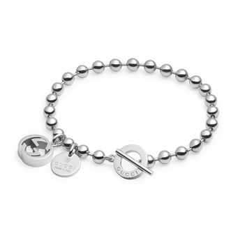 Gucci Boule Bracelet with Sterling Silver Beads and Charms