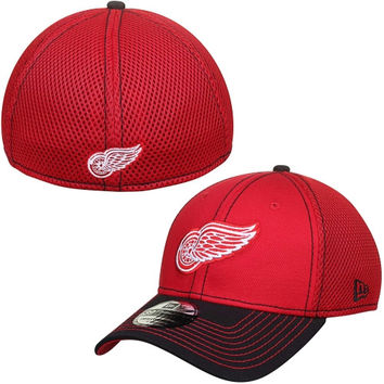 Detroit Red Wings New Era Two-Tone Neo 39THIRTY Flex Hat – Red/Black