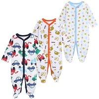 3 PCS/LOT Baby Boy Clothes Comfortable Baby Rompers Winter Thick Climbing Clothes Newborn 0-12 M Baby Clothes Unisex