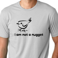 I am not a nugget funny T shirt Vegetarian Humor by MyPersonaliTs