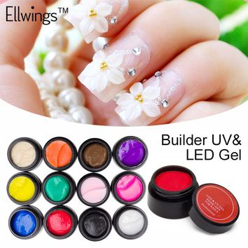 Ellwings 12 Color Sculpture Nail Gel 3D Carved UV Gel Creative DIY Nail Art Decorative 3D Gel Modelling Painting Manicure Tools