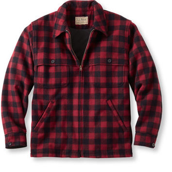 Maine Guide Zip-Front Jac-Shirt, WindStopper: Wool Coats | Free Shipping at L.L.Bean