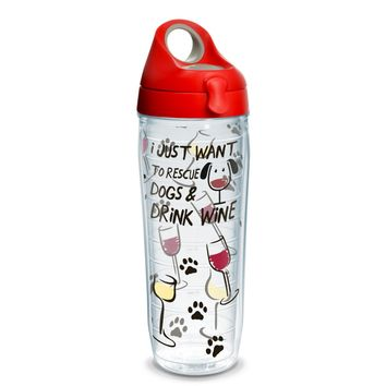 Tervis Project Paws Rescue Dogs with red lid, 24 oz. water bottle