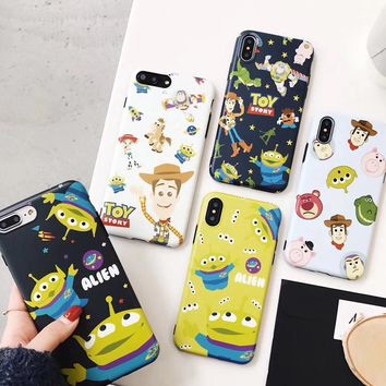 For iPhone X Cartoon Case , Toy Story Buzz Alien Cover TPU back case for Apple iPhone 6 6S 6SPlus 7 7Plus 8 8plus Shell cover