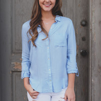 Chambray Royalty Top