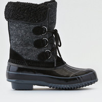 AEO Wool Duck Boot , Black