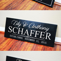 SALE Christmas Gifts Ideas Christmas Decorations Holiday Gifts Set of 3 Family Last Name Established Sign ENGRAVED Wood