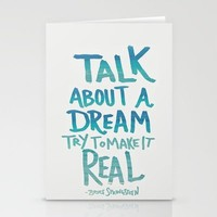 TALK ABOUT A DREAM Stationery Cards by Leah Flores | Society6