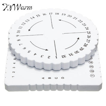 2Pcs Round Square Kumihimo Disc Macrame Braided Cord String Bracelet Handmade Weaving Disk Plate DIY Materials Sewing Tools