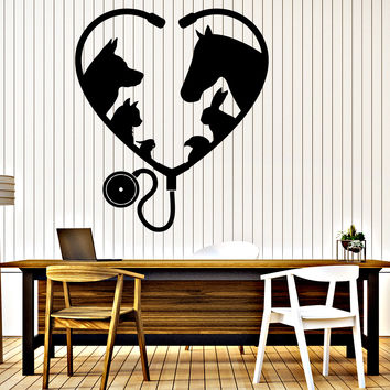 Vinyl Wall Decal Animal Pet Veterinary Medicine Interior Decor Unique Gift z4639