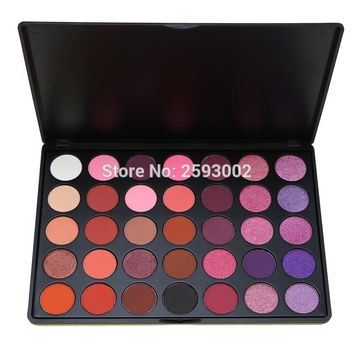 2017 Professional 35 Color Eyeshadow Palette Shimmer Matte Beauty Make up Pallete Set Smoky Eye shadow Makeup Kit P2#