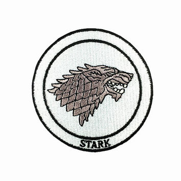 iron on patch in handmake House Stark - Game of Thrones  Patch the film embroidered patch iron on patch badge sew on patch iron on patches