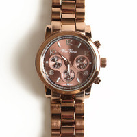 Time Flies Copper Watch - $35.00 : ThreadSence, Women's Indie & Bohemian Clothing, Dresses, & Accessories