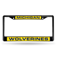 Michigan Wolverines NCAA Laser Cut Black License Plate Frame