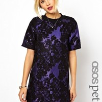 ASOS PETITE Exclusive Jacquard Mini Shift Dress - Print