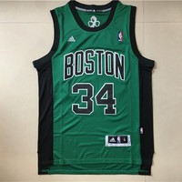 New Boston Celtics #34 Paul Pierce Retro Swingman Basketball Jersey Green Sleeveless Jersey