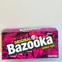 Upcycled Original Bazooka Gum Candy Box Clutch Purse