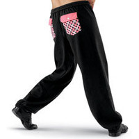 Sweatpants with Plaid Back Pockets; Urban Groove