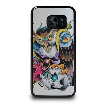 SUGAR SCHOOL OWL TATTOO Samsung Galaxy S7 Edge Case Cover