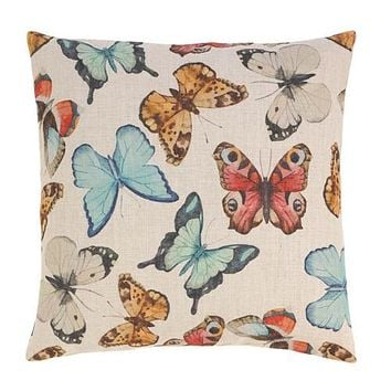Fluttering Butterflies Decorative Pillow