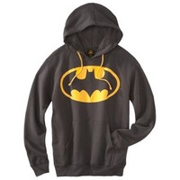 Men's Batman Hooded Sweatshirt - Charcoal Gray