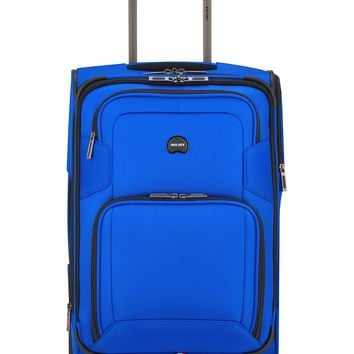 "Delsey Opti-Max 21"" 2-Wheel Expandable Wheeled Carry-On Suitcase Luggage"