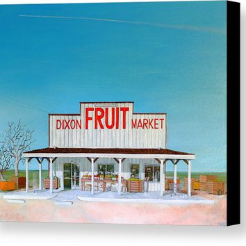 Dixon Fruit Market 1992 Canvas Print