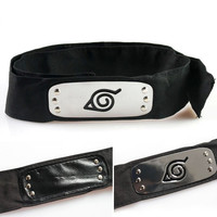 Naruto cosplay toys Leaf Village Logo Konoha Kakashi Akatsuki Members Head band toys