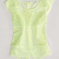 AEO Women's Eyelet Chiffon Top