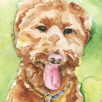 Labradoodle Watercolor Note Card Set