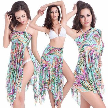 PEAPGC3 Multi Wear Beach Dress Cover-Ups Summer Bikini Cover-Ups Convertible Stretch Mesh Women Beach Dress Cover-Ups Swim Sportswear