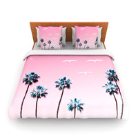 "Bree Madden ""Pink Cali"" Queen Fleece Duvet Cover - Outlet Item"