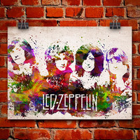 Led Zeppelin In Color Poster, Home Decor, Gift Idea