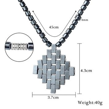 2017 hot 3284170588 Stone Men women Power Statement Necklace Therapy Health lose weight Care Hematite Accessories Jewelry Choker