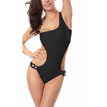 Women One Shoulder Swimsuit