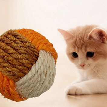 Cat Ball Toy Funny Interactive Cat Pet Toys Play Chewing Rattle Scratch Catch Pet Kitten Cat Exercise Toy Balls 1Pc