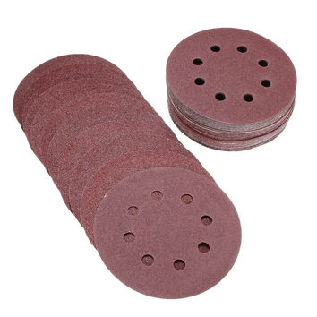 "50pcs set 5"" 8 Hole 80 120 180 240 320 Grit Sanding Disc Random Orbit Hook & Loop Woodworking Sander Sand Paper Discs Grit Sand"