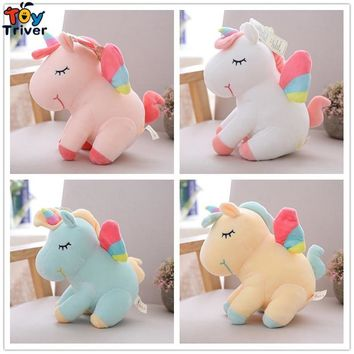 Plush Unicorn Toy Stuffed Animal Horse Baby Kids Children Lucky Birthday Gift Shop Home Decor Ornament Drop Shipping Triver