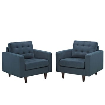 Empress Deeply Tufted Armchair Upholstered Set of 2