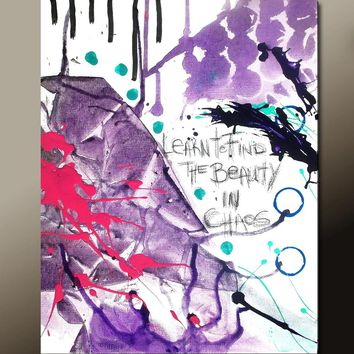 Abstract Art Print 11X14 Contemporary Modern Giclee - by Destiny Womack - dWo - Learn to Find the Beauty in Chaos