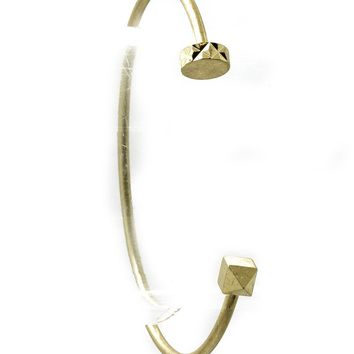 Gold Matte Finish Metal Wire Cuff Bracelet