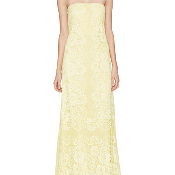 ERIN erin fetherston Women's Queen Anne's Lace Strapless Gown - Yellow