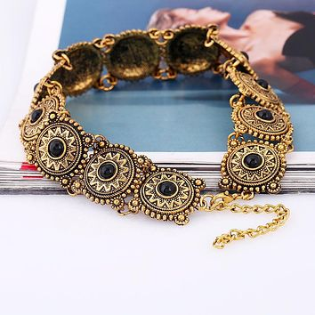 LZHLQ 2017 Hot Boho Collar Choker Necklace statement jewelry for women Fashion Vintage Ethnic style Bohemia Collier collares
