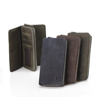 Handcrafts Leather Vintage Bags England Style Unisex Wallet [9026280323]