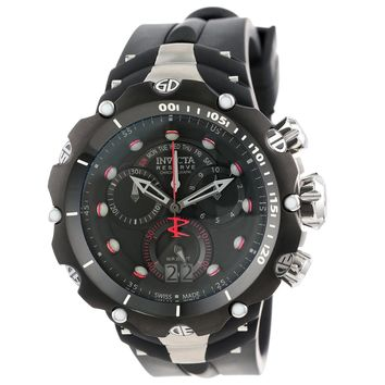 Invicta 11702 Men's Venom Gen II Reserve Black Dial Black Rubber Strap Chronograph Dive Watch