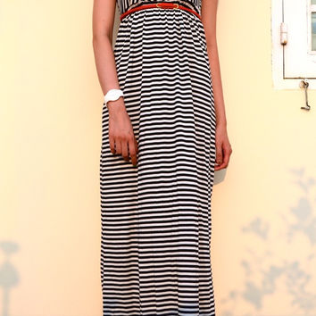 AMINA STRIPE MAXI DRESS