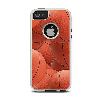 The Basketball Overlay Apple iPhone 5-5s Otterbox Commuter Case Skin Set